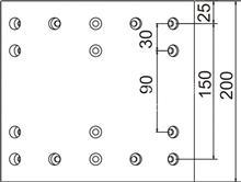 一汽解放J6重卡B型后桥16孔;中心距150MM制动刹车片;/摩擦片总成