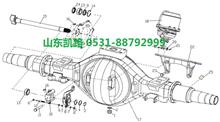 汉德469轻量化HDZ469后桥轮间差速器半轴齿轮/HD469-2403015