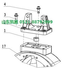 汉德469轻量化HDZ469后轮间差速器壳总成/HD469-2403024/2403011