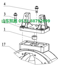 汉德469轻量化HDZ469差速器壳(左)/DZ90129320119