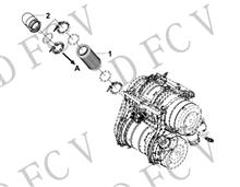 1203410-TR900东风天龙消声器前进气管总成-带保温功能/1203410-TR900