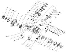 HDM485盘刹后桥     后桥主、从动锥齿轮(I=2.846/HD95129320090