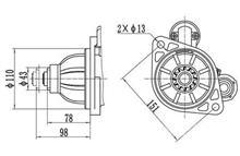 金笛起动机马达6DF2-24/6DF3-24E3系列QDJ2641T/3708010A420-000/3708010A420-0000
