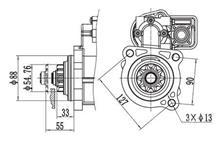 金笛马达起动机 玉柴6C1020L-D20系列QDJ2860T /C6300-3708100A/C6300-3708100A