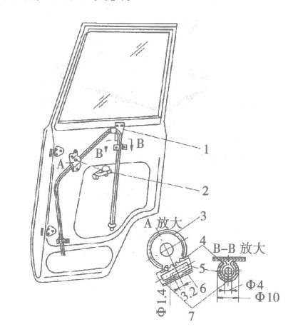 齿轮弹簧式玻璃升降器的结构是什么?